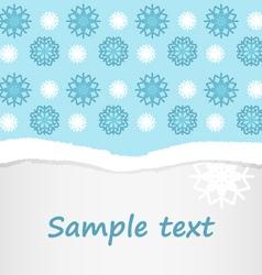 snowflakes christmas postcard background vector image