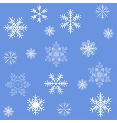 Blue snowflakes seamless background pattern vector image vector image