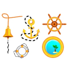 nautical collection vector image