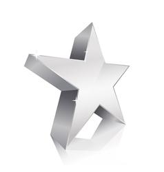 3d star silver vector