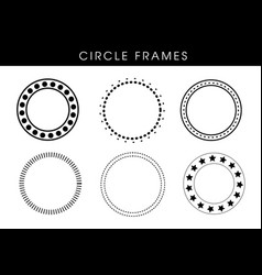 abstract circle frames vector image