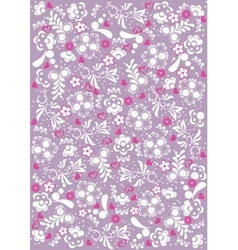 Abstract floral pattern background vector image