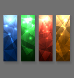 Abstract polygonal banner set vector
