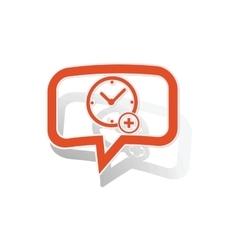 Add time message sticker orange vector