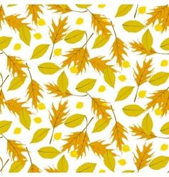 Autumn seamless background vector