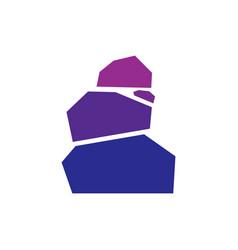 balance rock creative logo concept vector image