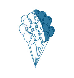 Balloons flying decoration national party shadow vector