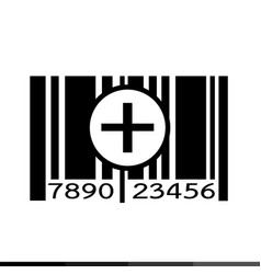 barcode icon design vector image
