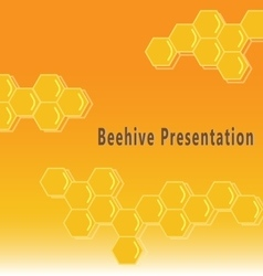 Beehive presentation background vector
