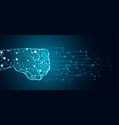 big data and artificial intelligence domination vector image