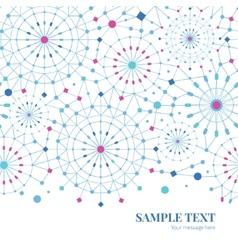 blue abstract line art circles horizontal vector image