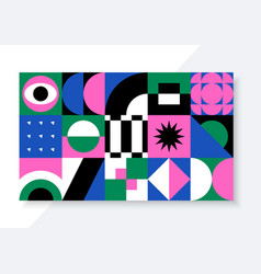 bright background with abstract geometric shapes vector image