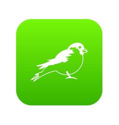 bullfinch icon digital green vector image