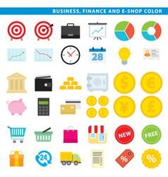 business finance e shop color vector image
