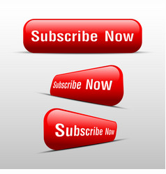 Button subscribe now red vector