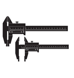 caliper black drawing vector image