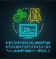 Campaign tracking neon light icon marketing vector