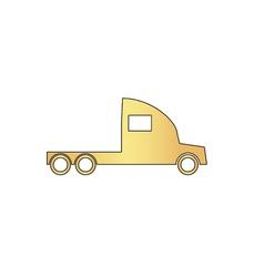 cargo truck computer symbol vector image