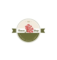 Carnation flowers Logotype Label Badge vector