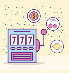 casino slot machine jackpot leisure luck game vector image