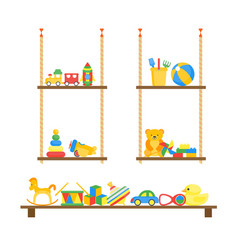 child toys color shelves for home vector image