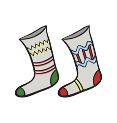 ChristmasSocks vector image