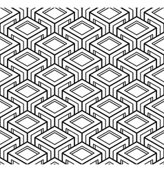 Contemporary abstract endless background vector