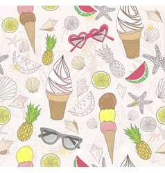 Cute summer abstract pattern vector