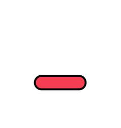 Delete less minus remove business logo template vector