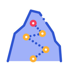 Direction way points mountain alpinism icon vector
