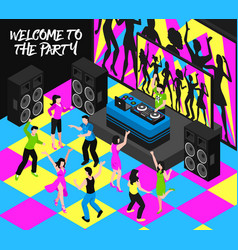 Dj and party isometric vector
