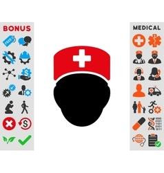 Doctor Head Icon vector