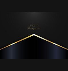 elegant golden glowing triangle on black and blue vector image