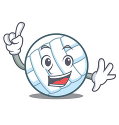 Finger volley ball character cartoon vector