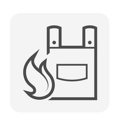 fire resistance cloth or safety equipment or vector image