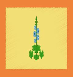 Flat shading style plant malva vector