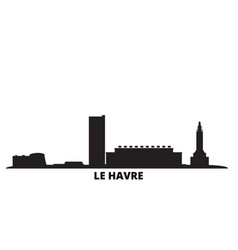 France le havre city skyline isolated vector