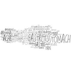 gastritis word cloud concept vector image