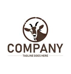 goat logo inspiration for animal logo design vector image