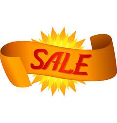 golden banner sale vector image