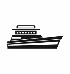 Great powerboat icon simple style vector