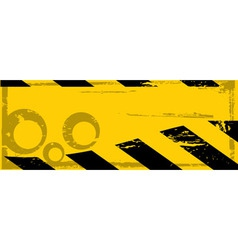 grunge danger banner vector image