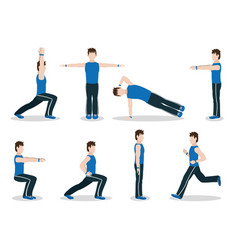 Healthy habits exercise vector