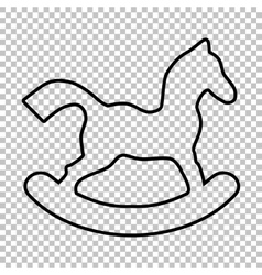 Horse toy line icon vector image