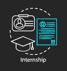 Internship chalk icon part-time job vector