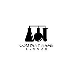 laboratorium logo and symbols lab vector image