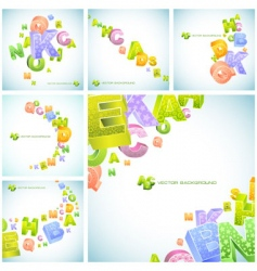 letters abstract background vector image