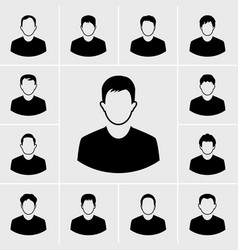 man icons set vector image