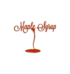 Maple Syrup Logo Sign Design Background vector image