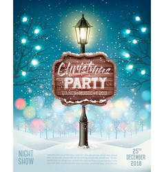 Merry christmas party flyer background with vector